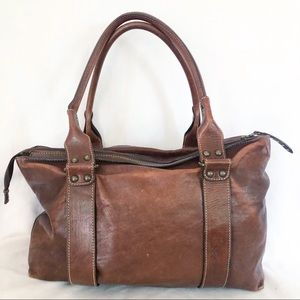 Sundance brown leather hobo bag purse large